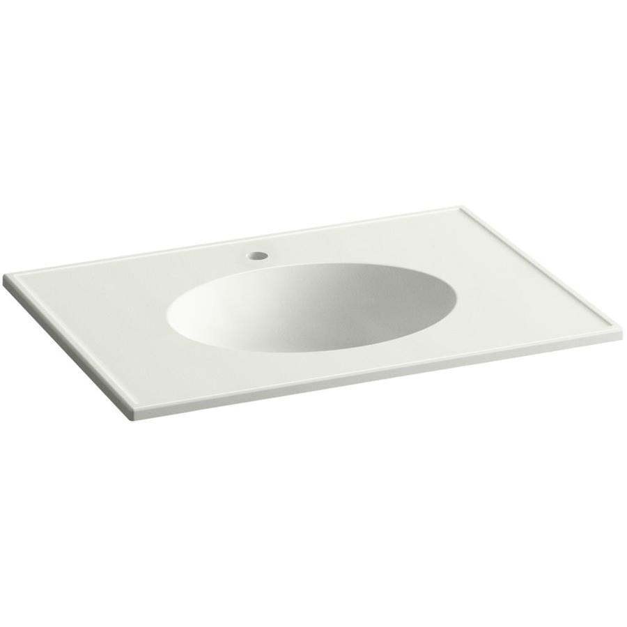 KOHLER Ceramic/Impressions Dune Impressions Vitreous China Integral Bathroom Vanity Top (Common: 31-in x 23-in; Actual: 31-in x 22.375-in)