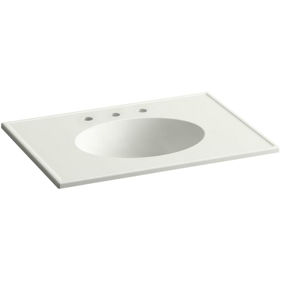 KOHLER Ceramic/Impressions Dune Impressions Vitreous China Integral Bathroom Vanity Top (Common: 31-in x 23-in; Actual: 31-in x 22.375-in)