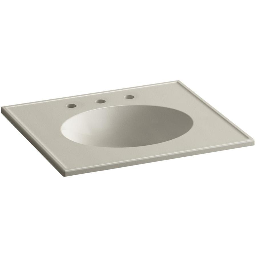 KOHLER Ceramic/Impressions Sandbar Impressions Vitreous China Integral Bathroom Vanity Top (Common: 25-in x 23-in; Actual: 25-in x 22.375-in)