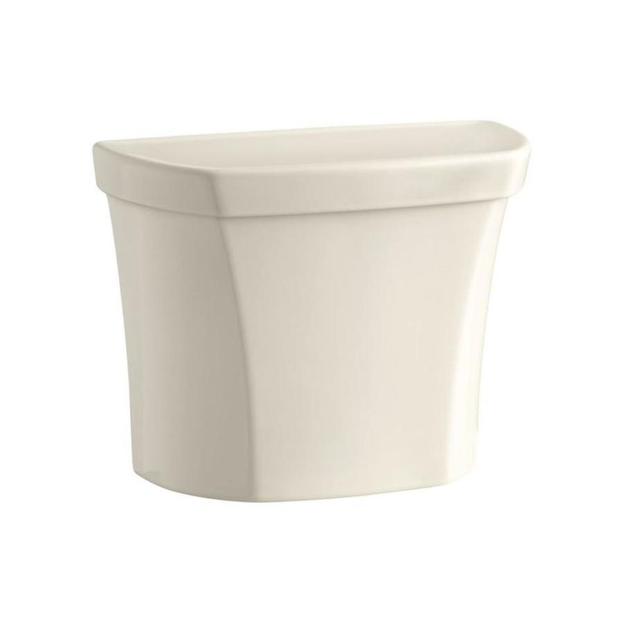 KOHLER Wellworth Almond 1.1000-GPF Dual-Flush High-Efficiency Toilet Tank