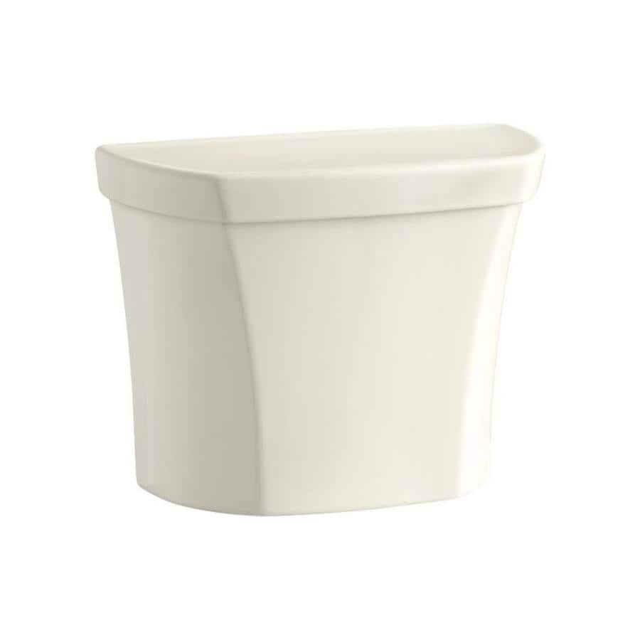 KOHLER Wellworth Almond 1.1-GPF 12-in Rough-in Dual-Flush High-Efficiency Toilet Tank