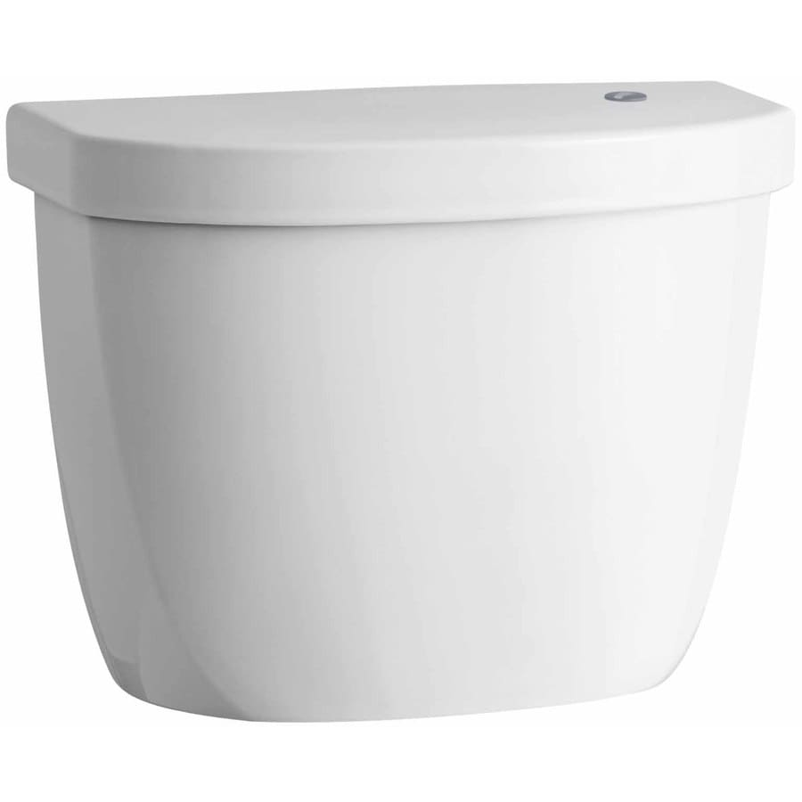 KOHLER Cimarron White 1.28-GPF (4.85-LPF) 12 Rough-In Single-Flush High-Efficiency Toilet Tank