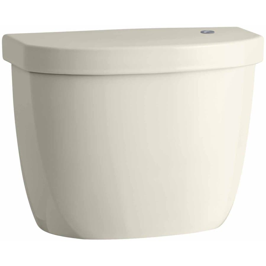 KOHLER Cimarron Almond 1.28-GPF (4.85-LPF) 12 Rough-In Single-Flush High-Efficiency Toilet Tank