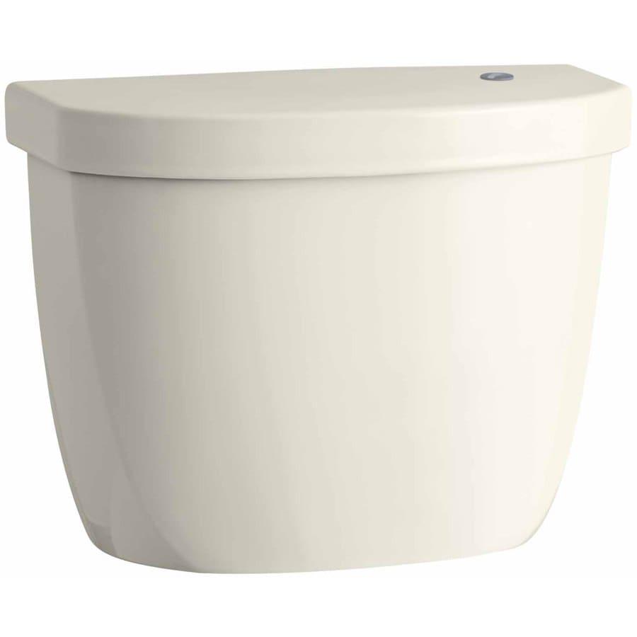 KOHLER Cimarron Biscuit 1.2800-GPF Single-Flush High-Efficiency Toilet Tank