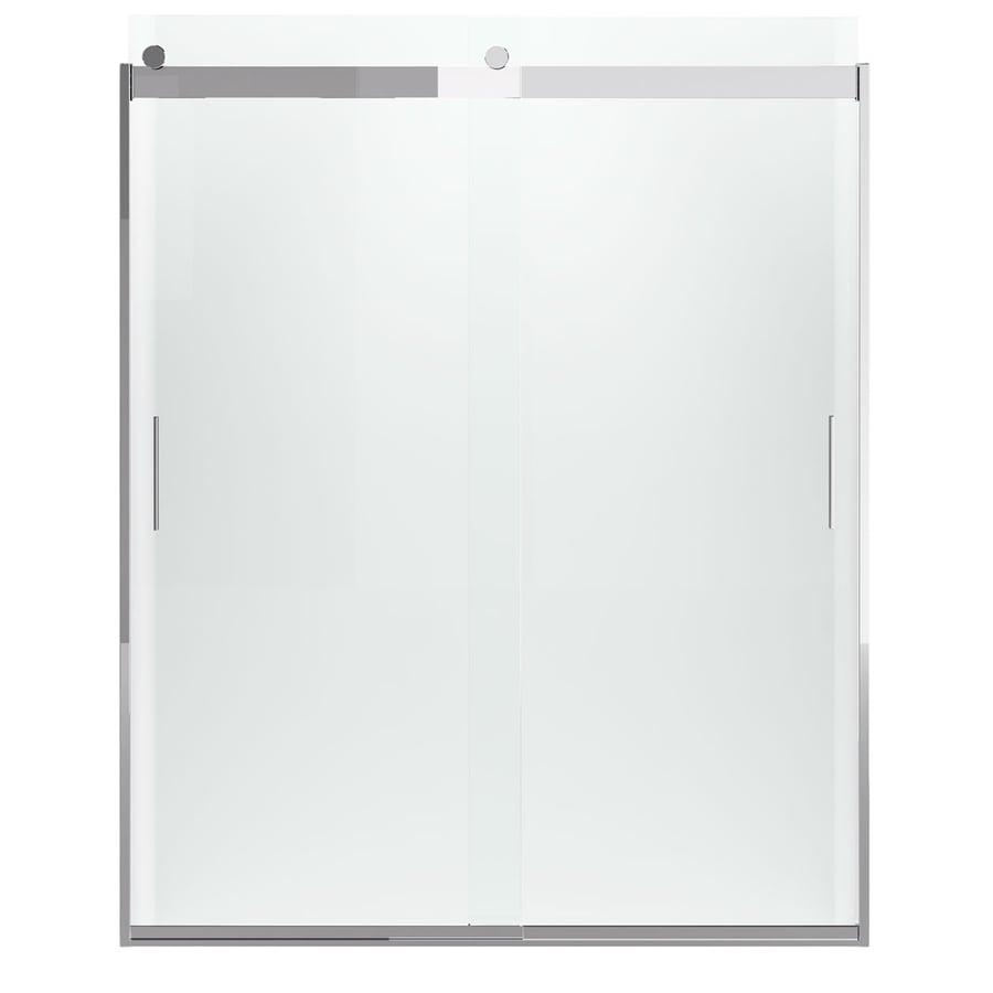 KOHLER Levity 31-in to 31-in Frameless Bright Polished Silver Sliding Shower Door