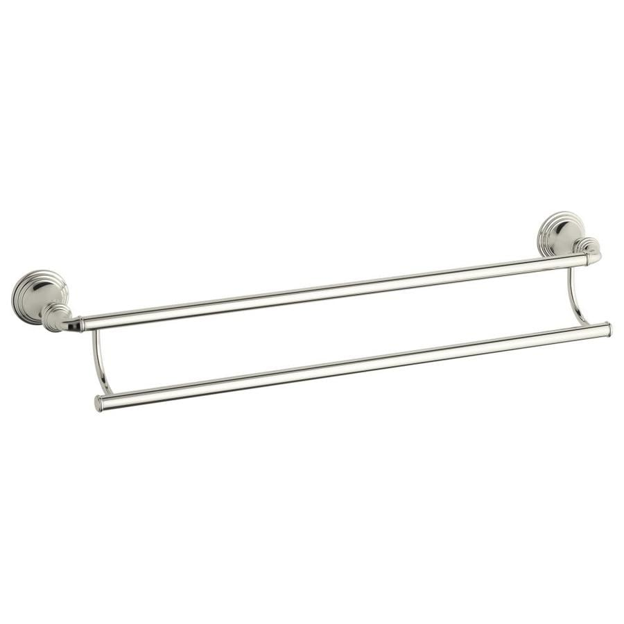 KOHLER Devonshire Vibrant Polished Nickel Double Towel Bar (Common: 26-in Double; Actual: 26.375-in)