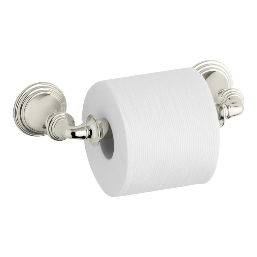 KOHLER Devonshire Vibrant Polished Nickel Surface Mount Spring-Loaded Toilet Paper Holder