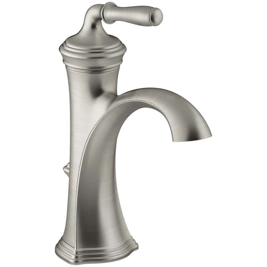 Kohler devonshire vibrant brushed nickel 1 handle single - Kohler two tone bathroom faucets ...