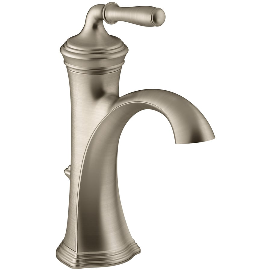 Kohler devonshire vibrant brushed bronze 1 handle single - Kohler two tone bathroom faucets ...