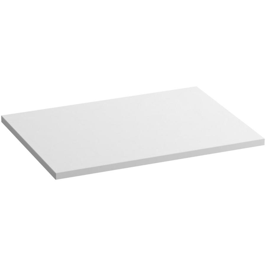 KOHLER Solid/Expressions White Expressions Solid Surface Bathroom Vanity Top (Common: 31-in x 22-in; Actual: 31-in x 22.8125-in)
