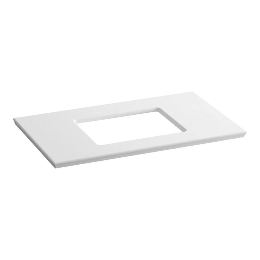 KOHLER Solid/Expressions White Expressions Solid Surface Bathroom Vanity Top (Common: 37-in x 23-in; Actual: 37.625-in x 22.8125-in)