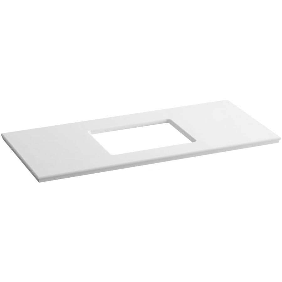 KOHLER Solid/Expressions White Expressions Solid Surface Sink Sold Separately Bathroom Vanity Top (Common: 49-in x 23-in; Actual: 49.625-in x 22.8125-in)