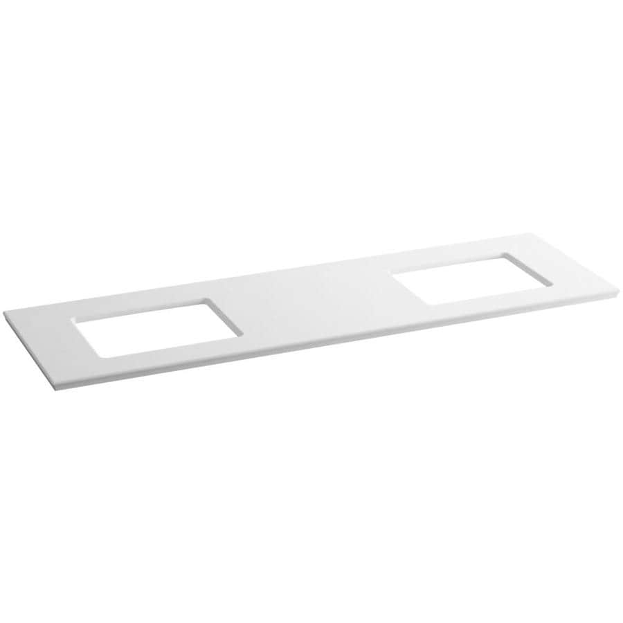 KOHLER Solid/Expressions White Expressions Solid Surface Bathroom Vanity Top (Common: 73-in x 23-in; Actual: 73.625-in x 22.8125-in)