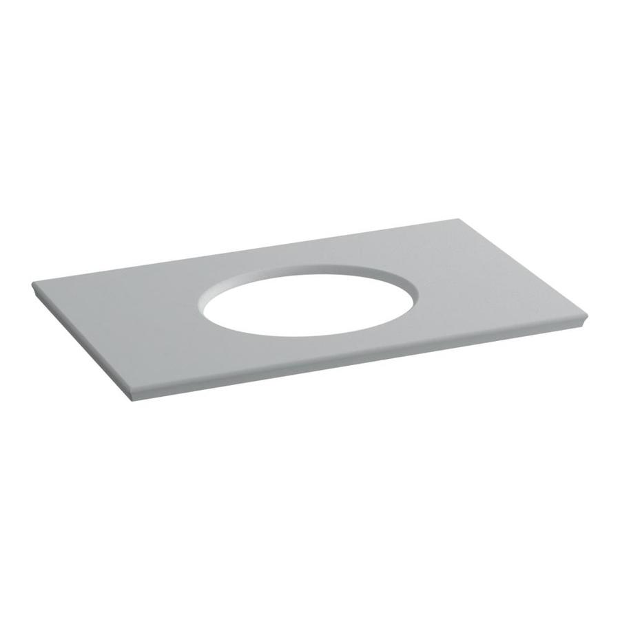 KOHLER Solid/Expressions Ice Grey Expressions Solid Surface Bathroom Vanity Top (Common: 37-in x 23-in; Actual: 37.625-in x 22.8125-in)