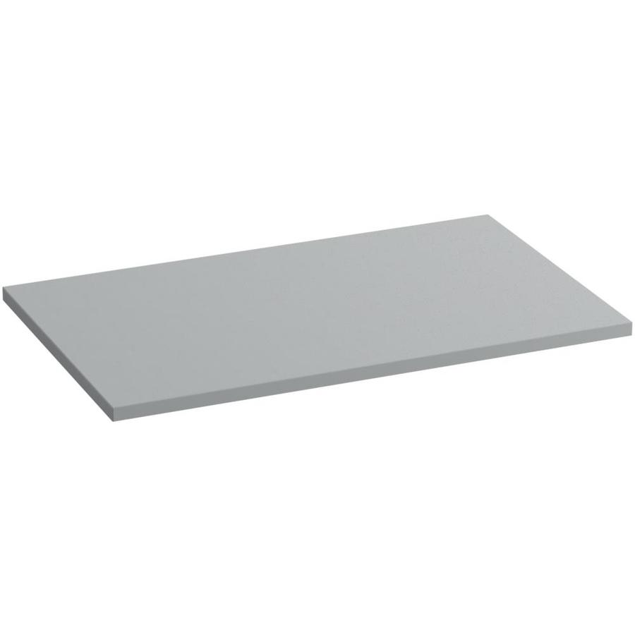 KOHLER Solid/Expressions Ice Grey Expressions Solid Surface Bathroom Vanity Top (Common: 37-in x 23-in; Actual: 37-in x 22.8125-in)