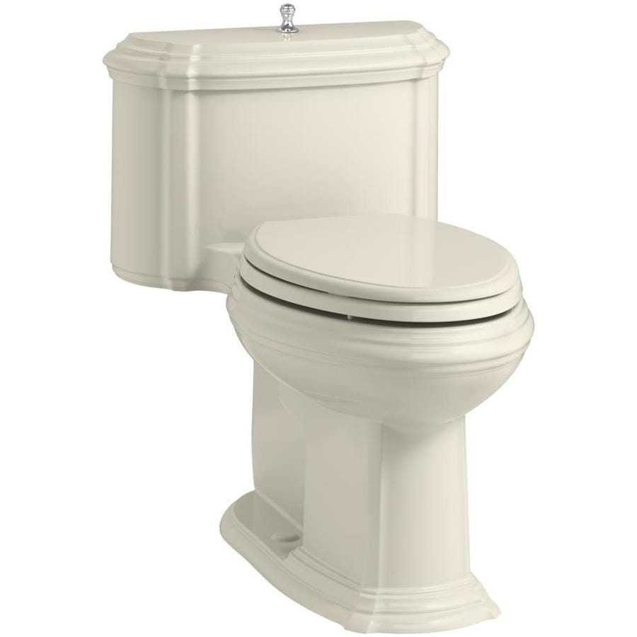 KOHLER Portrait 1.28 Almond WaterSense Elongated Chair Height 1-Piece Toilet