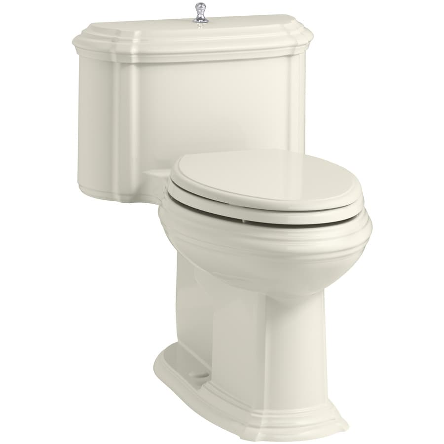 KOHLER Portrait Biscuit 1.28-GPF (4.85-LPF) 12 Rough-In WaterSense Elongated 1-Piece Chair Height Toilet