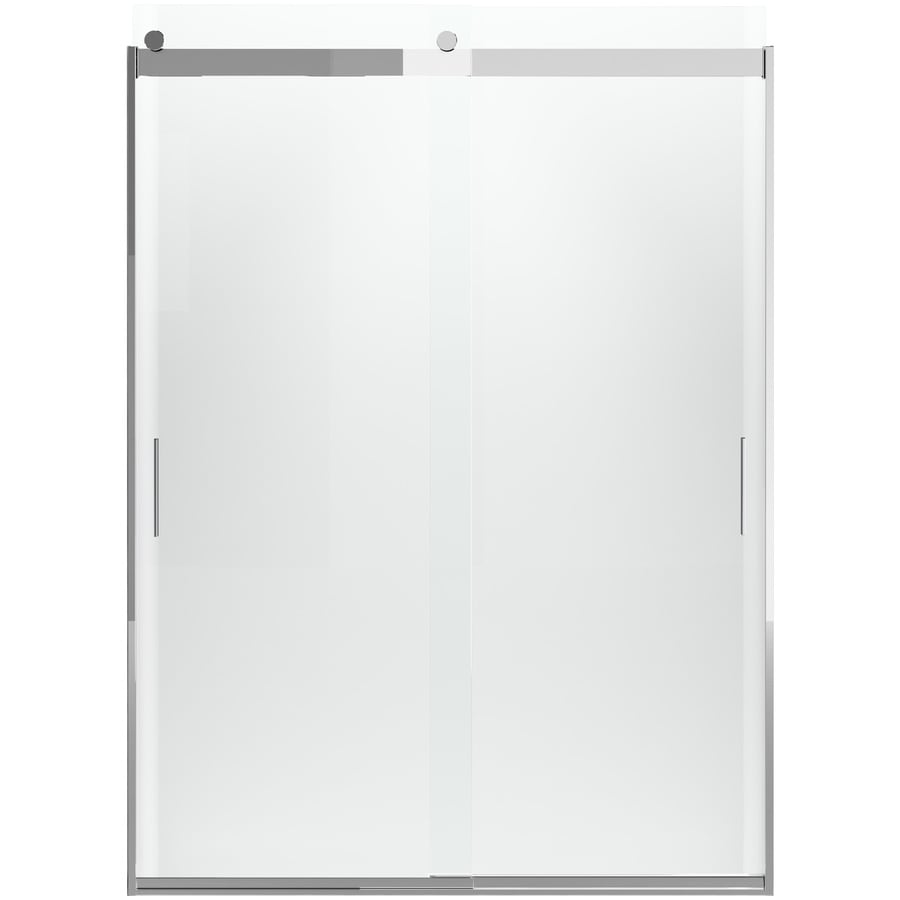 KOHLER Levity 62-in H x 31.5-in W Crystal Clear Shower Glass Panel