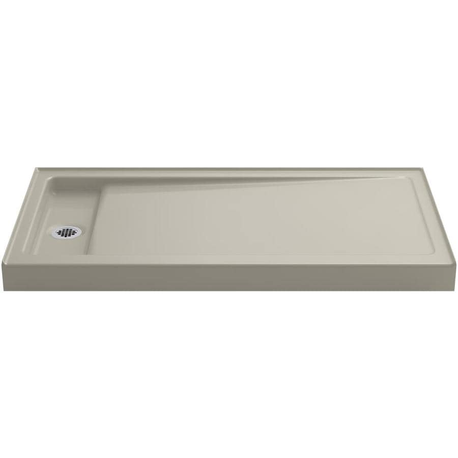 KOHLER Bellwether Sandbar Cast Iron Shower Base (Common: 32-in W x 60-in L; Actual: 32-in W x 60-in L)