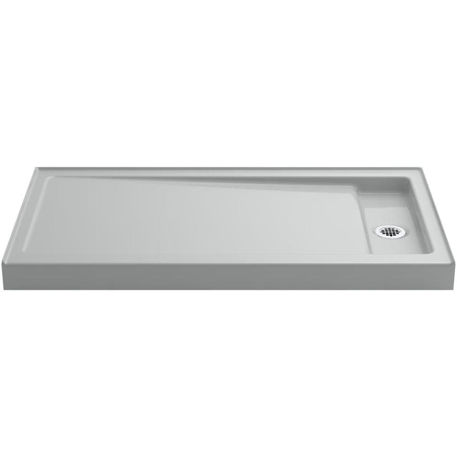 KOHLER Bellwether Ice Grey Cast Iron Shower Base (Common: 32-in W x 60-in L; Actual: 32-in W x 60-in L)