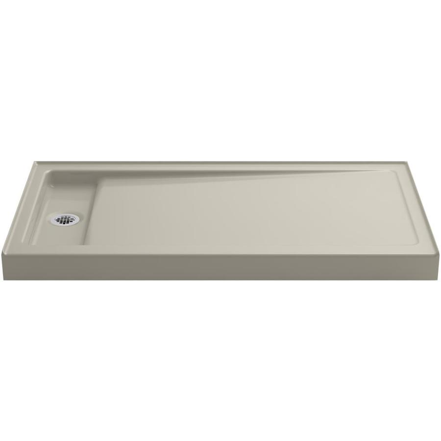 kohler bellwether sandbar cast iron shower base common 32in w x 60