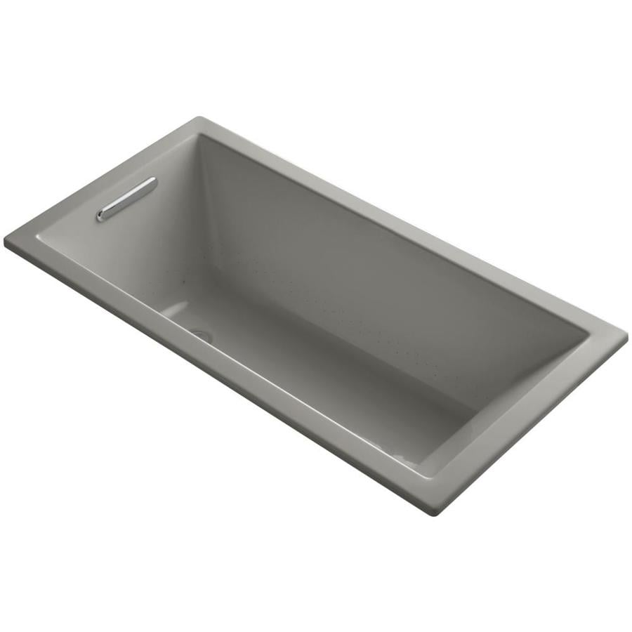KOHLER Underscore 60-in Cashmere Acrylic Drop-In Air Bath with Reversible Drain
