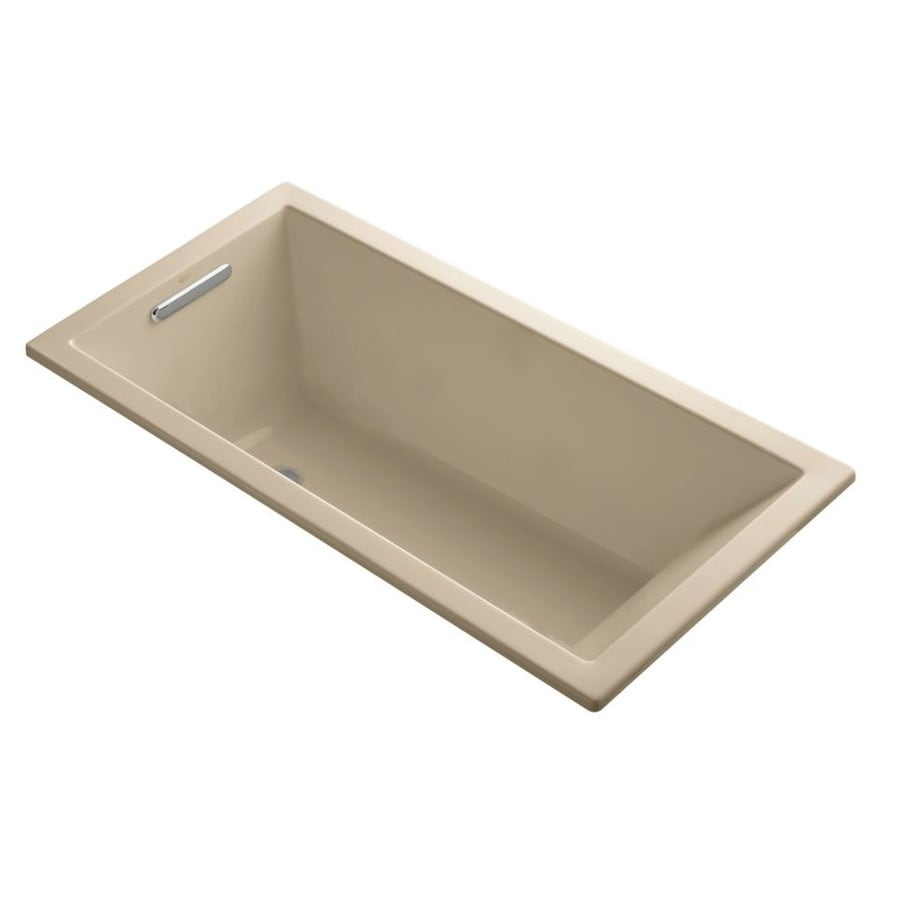 KOHLER Underscore 60-in Mexican Sand Acrylic Drop-In Bathtub with Reversible Drain