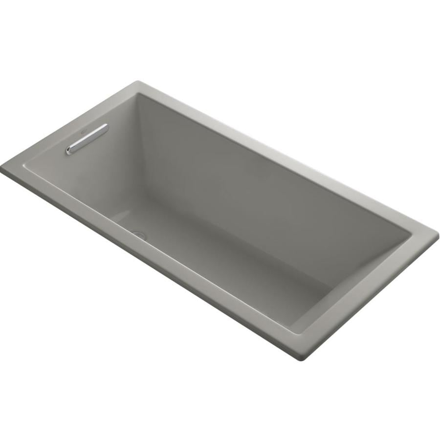 KOHLER Underscore Cashmere Acrylic Rectangular Drop-in Bathtub with Reversible Drain (Common: 30-in x 60-in; Actual: 19-in x 30-in x 60-in)