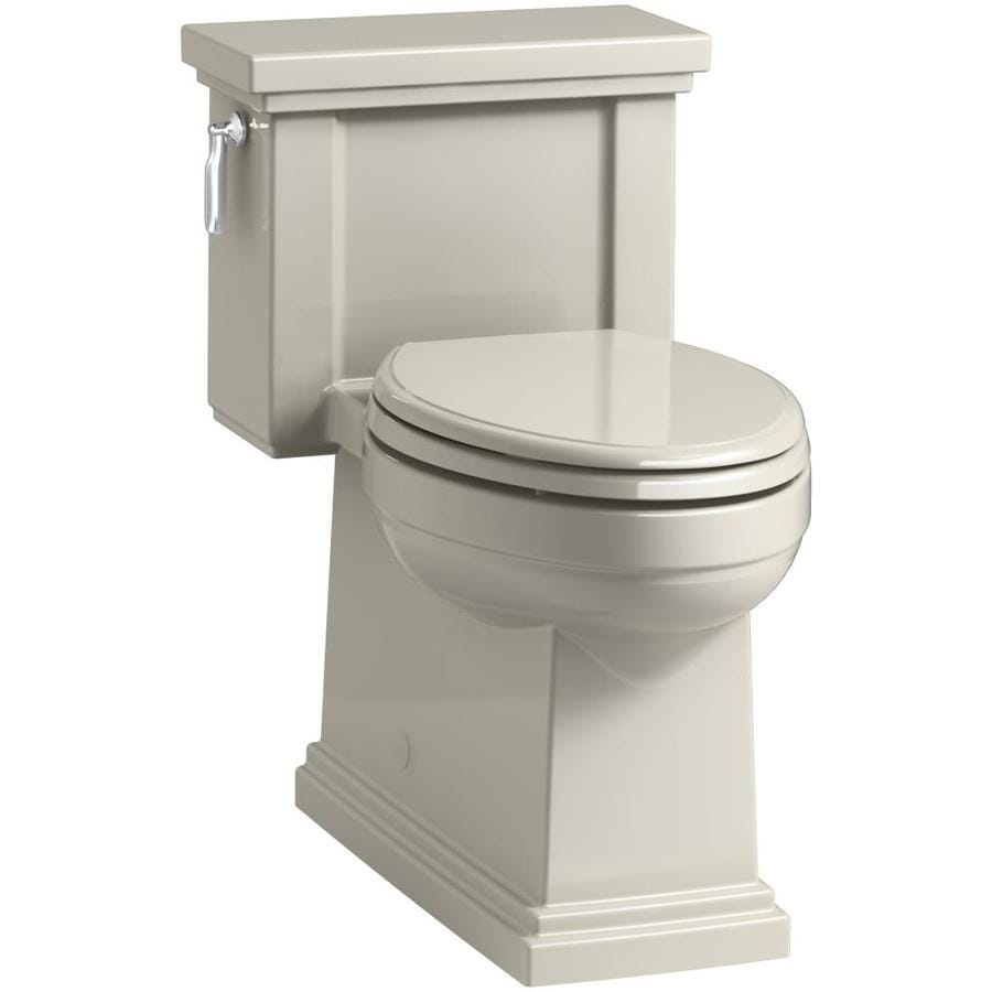 KOHLER Tresham Sandbar WaterSense Labeled  Compact Elongated Chair Height 1-piece Toilet 12-in Rough-In Size