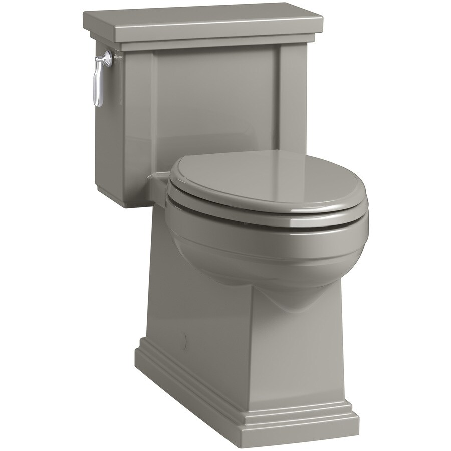 KOHLER Tresham 1.28 Cashmere WaterSense Compact Elongated Chair Height 1-Piece Toilet