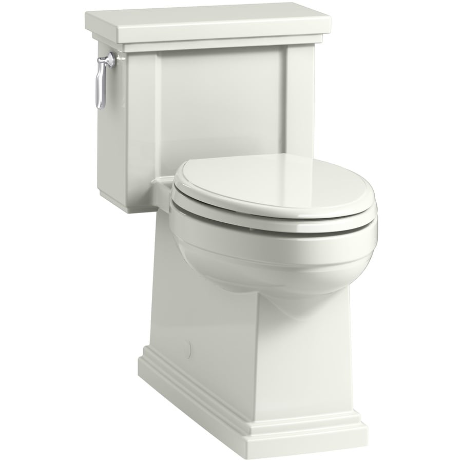 KOHLER Tresham 1.28-GPF (4.85-LPF) Dune WaterSense Compact Elongated Chair Height 1-Piece Toilet