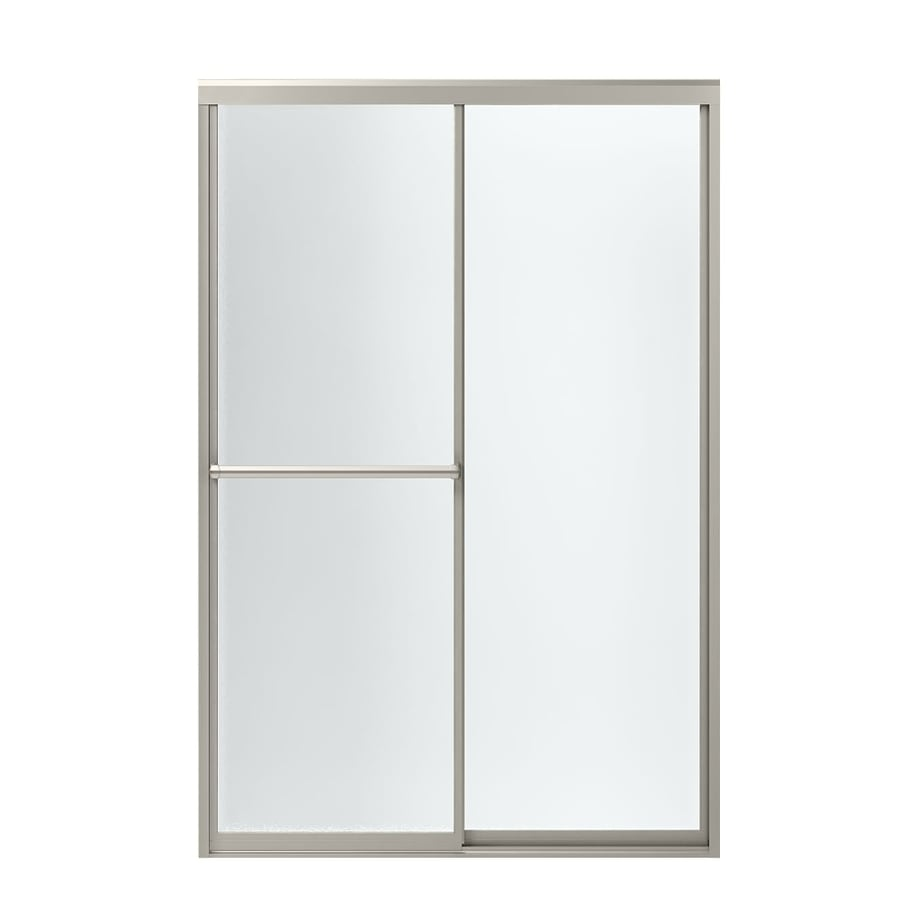 Sterling Prevail 43.875-in to 48.875-in W x 70.125-in H Brushed Nickel Sliding Shower Door