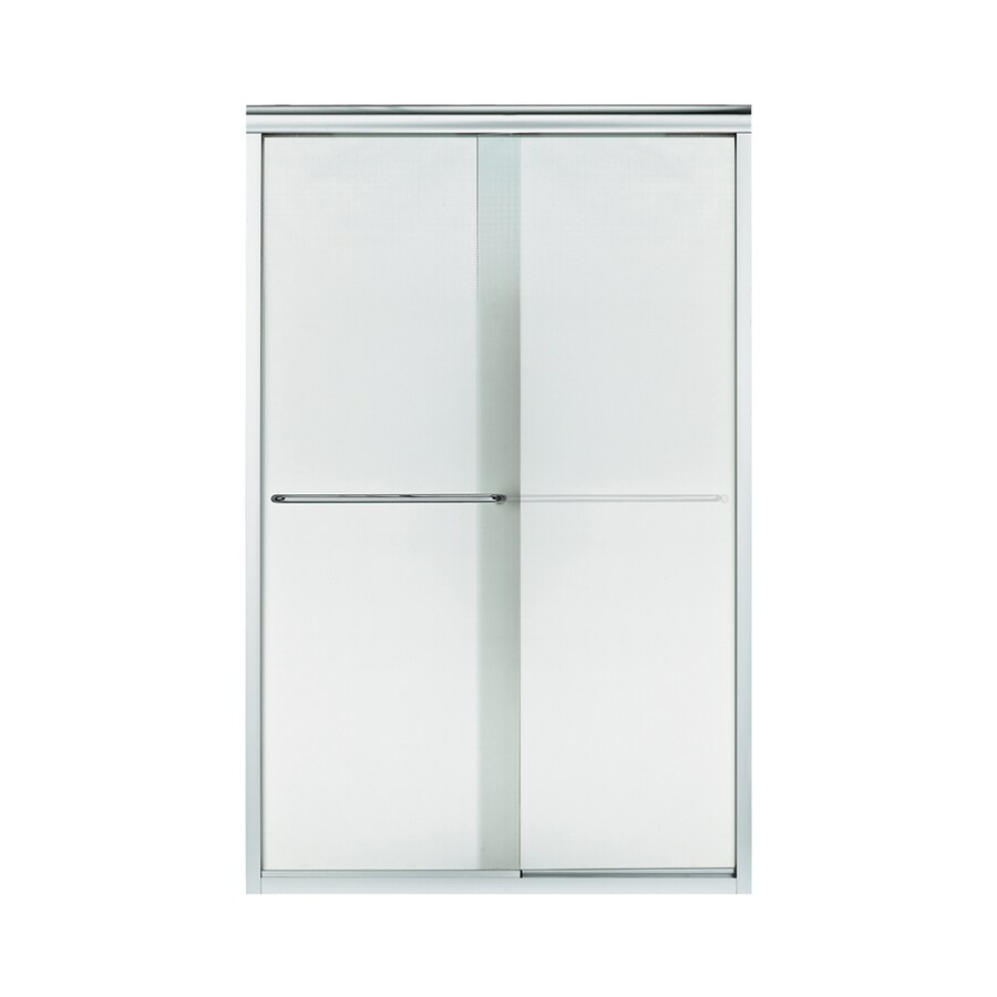 Sterling Finesse 44-in to 45.5-in W x 70.312-in H Silver Sliding Shower Door