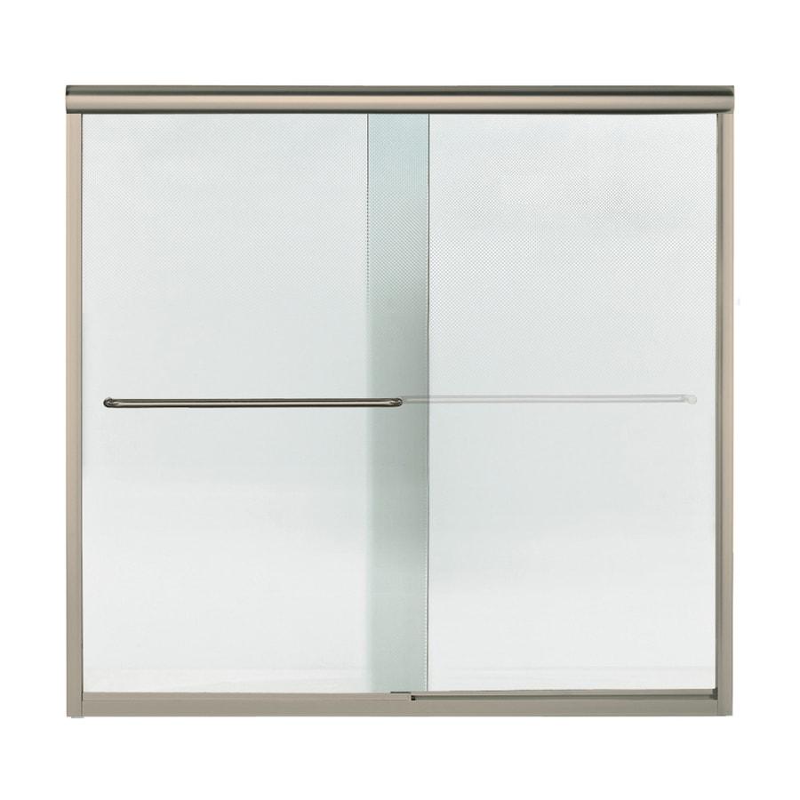 Sterling Finesse 59.25-in W x 55.75-in H Brushed Nickel Bathtub Door