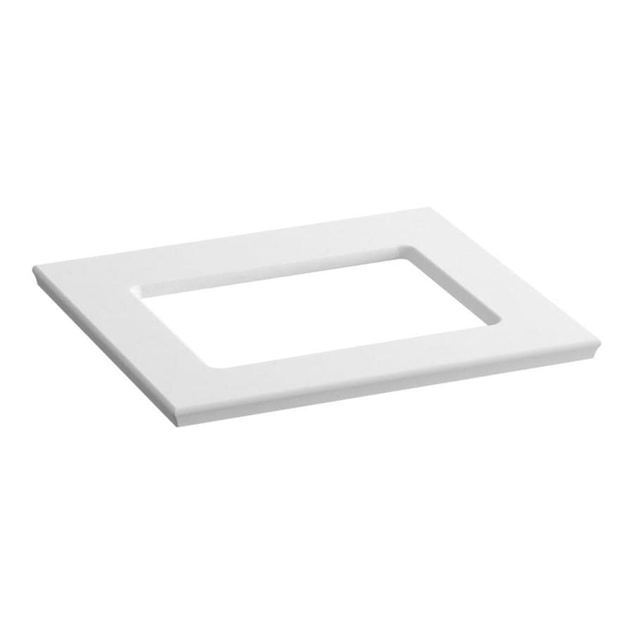 KOHLER Solid/Expressions White Expressions Solid Surface Bathroom Vanity Top (Common: 25-in x 23-in; Actual: 25.625-in x 22.8125-in)