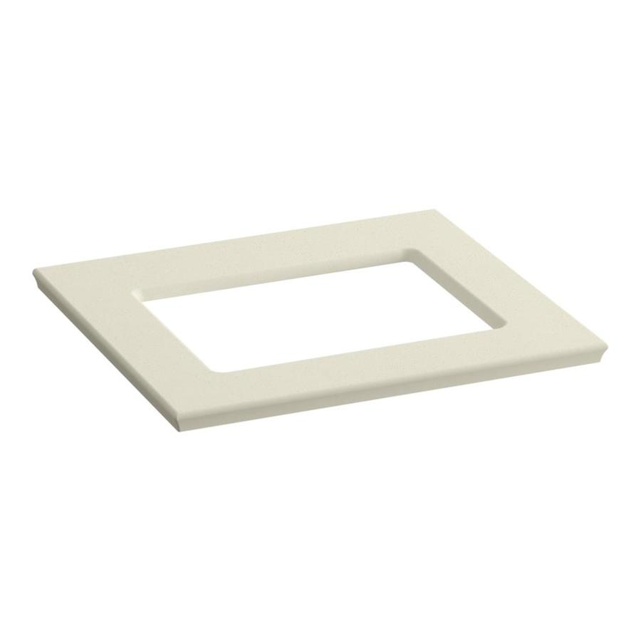 KOHLER Solid/Expressions Almond Expressions Solid Surface Bathroom Vanity Top (Common: 25-in x 23-in; Actual: 25.625-in x 22.8125-in)