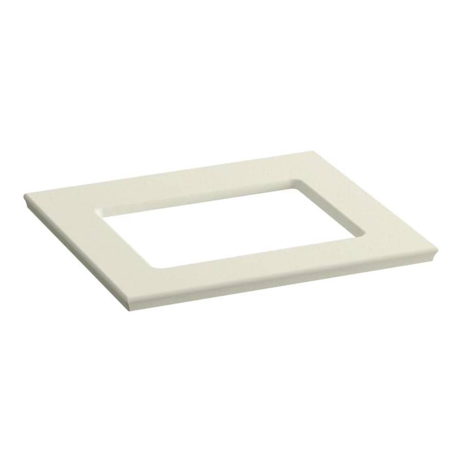 KOHLER Solid/Expressions Biscuit Expressions Solid Surface Bathroom Vanity Top (Common: 25-in x 23-in; Actual: 25.625-in x 22.8125-in)