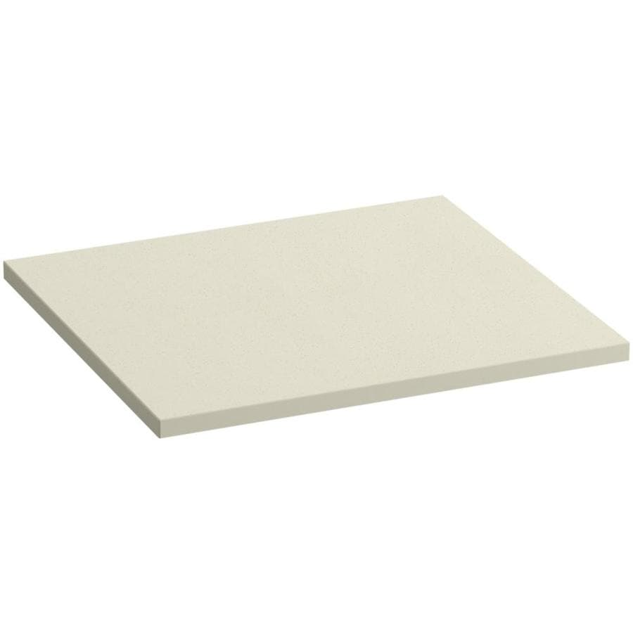KOHLER Solid/Expressions Almond Expressions Solid Surface Bathroom Vanity Top (Common: 25-in x 23-in; Actual: 25-in x 22.8125-in)