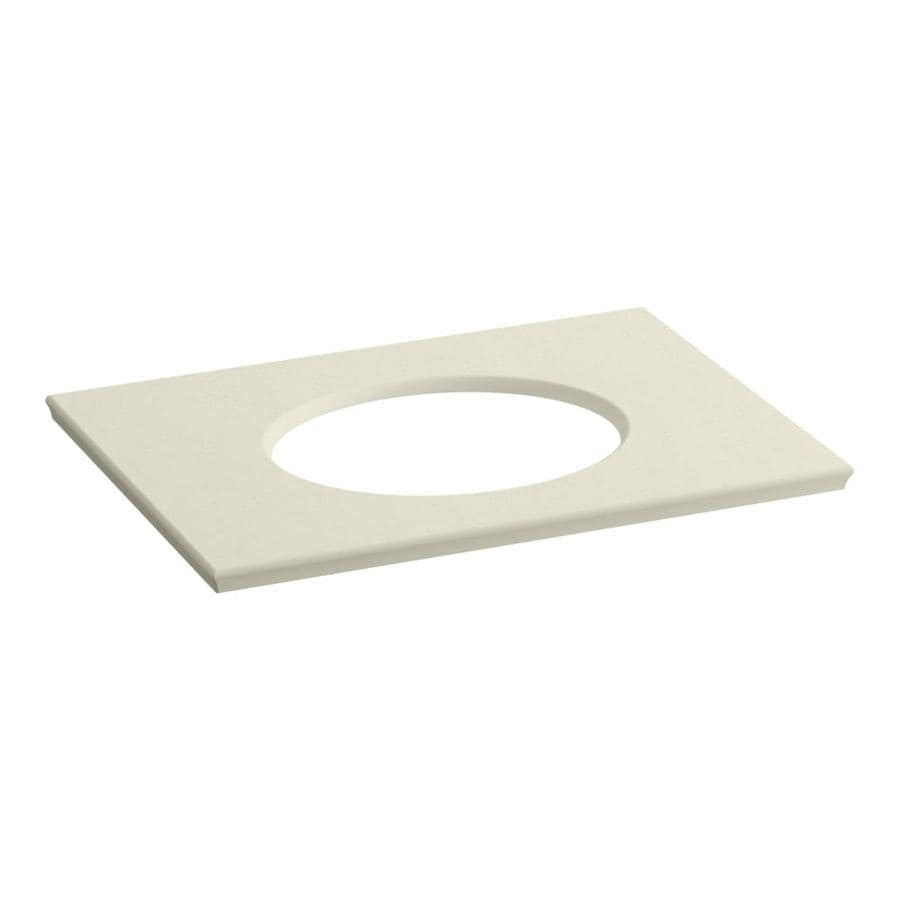 KOHLER Solid/Expressions Almond Expressions Solid Surface Bathroom Vanity Top (Common: 31-in x 23-in; Actual: 31.625-in x 22.8125-in)