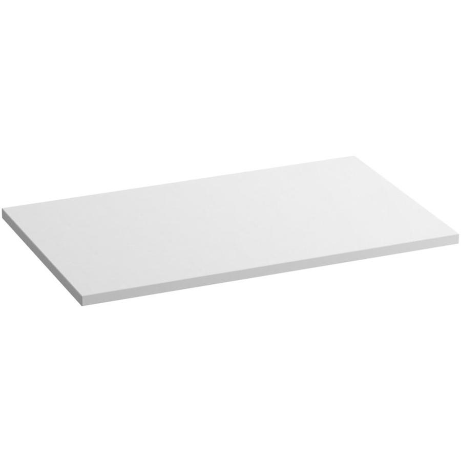 KOHLER Solid/Expressions White Expressions Solid Surface Bathroom Vanity Top (Common: 37-in x 23-in; Actual: 37-in x 22.8125-in)