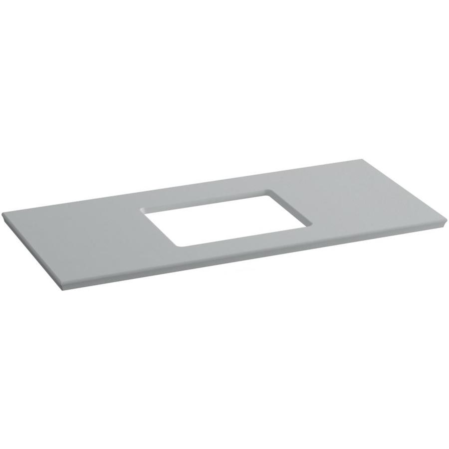 KOHLER Solid/Expressions Ice Grey Expressions Solid Surface Bathroom Vanity Top (Common: 49-in x 23-in; Actual: 49.625-in x 22.8125-in)