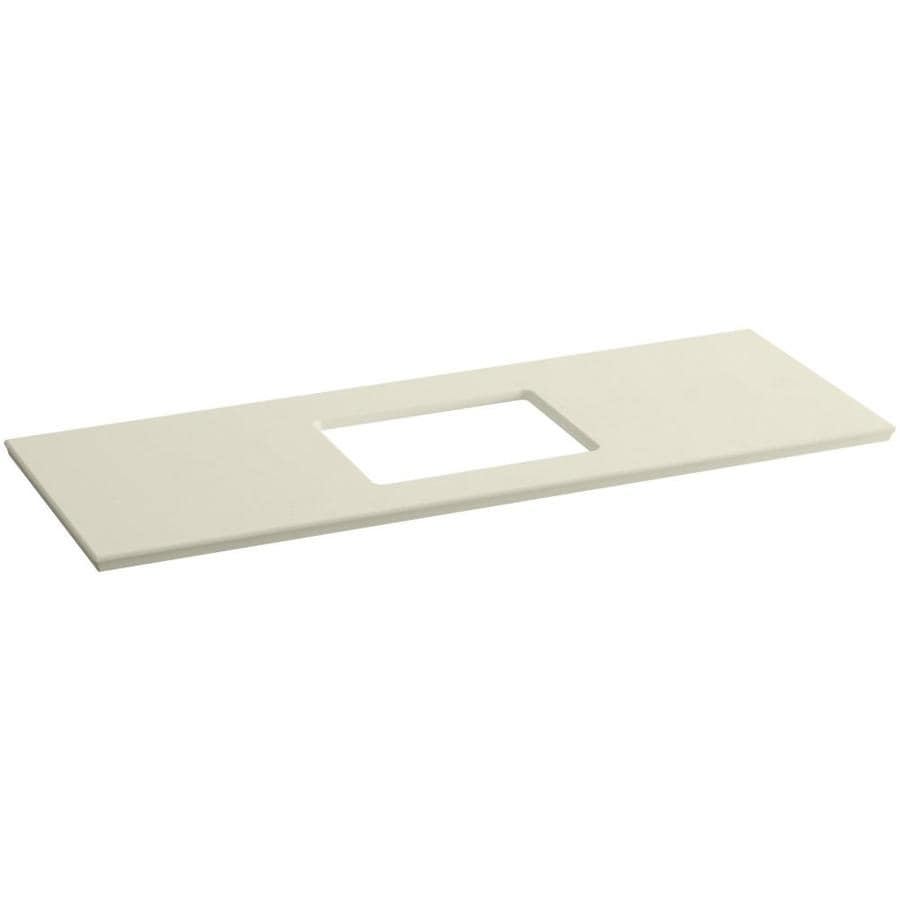 KOHLER Solid/Expressions Almond Expressions Solid Surface Bathroom Vanity Top (Common: 61-in x 23-in; Actual: 61.625-in x 22.8125-in)