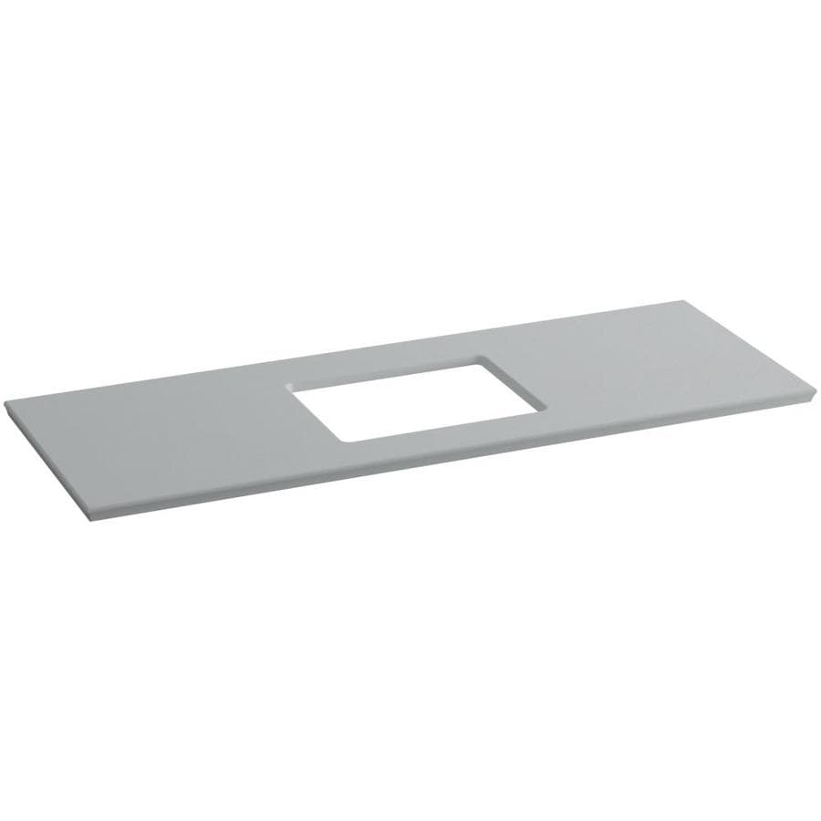 KOHLER Solid/Expressions Ice Grey Expressions Solid Surface Bathroom Vanity Top (Common: 61-in x 23-in; Actual: 61.625-in x 22.8125-in)