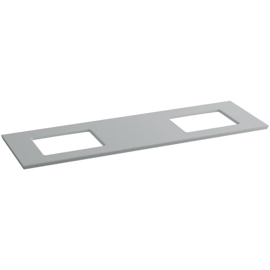 KOHLER Solid/Expressions Ice Grey Expressions Solid Surface Bathroom Vanity Top (Common: 73-in x 23-in; Actual: 73.625-in x 22.8125-in)