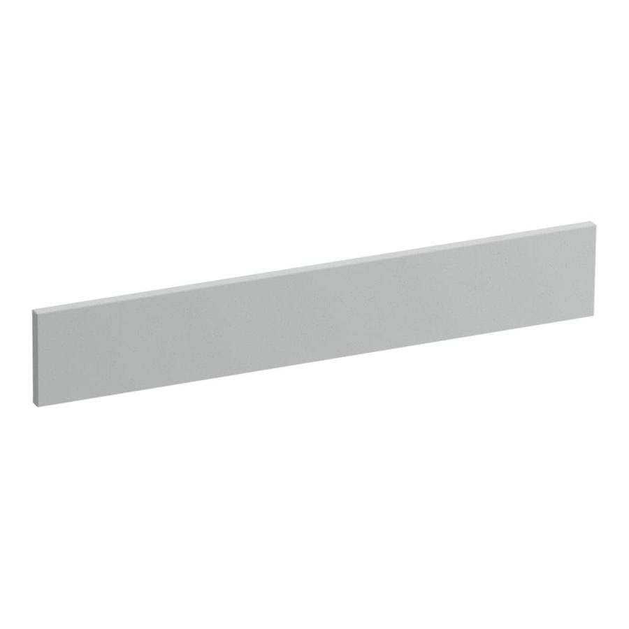 KOHLER Solid/Expressions 3.5-in H x 21.25-in L Ice Grey Expressions Bathroom Side Splash