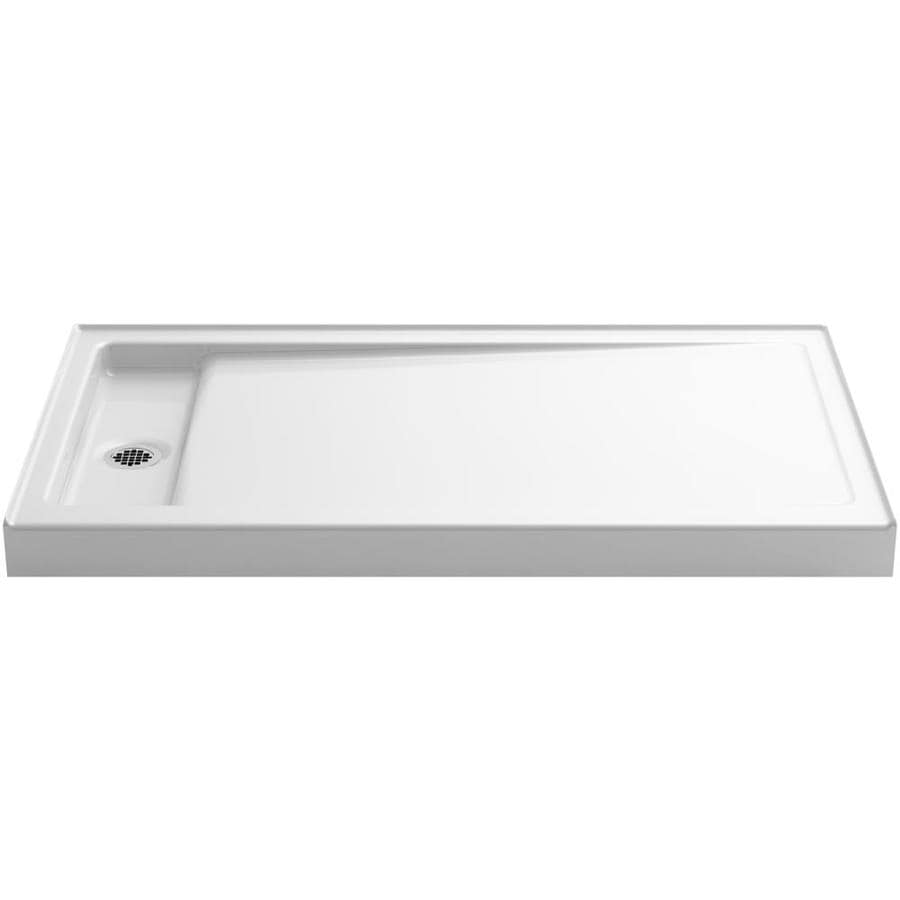 KOHLER Bellwether White Cast Iron Shower Base (Common: 34-in W x 60-in L; Actual: 34-in W x 60-in L)