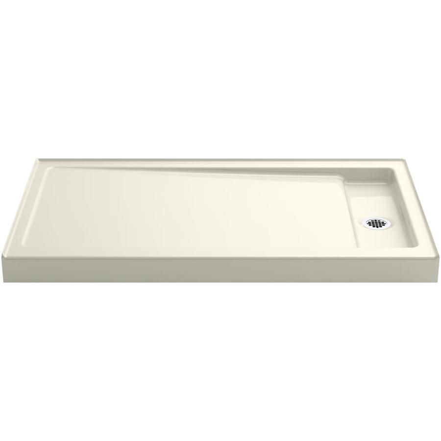 KOHLER Bellwether Biscuit Cast Iron Shower Base (Common: 34-in W x 60-in L; Actual: 34-in W x 60-in L)
