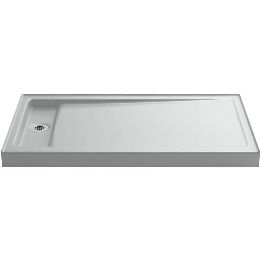 KOHLER Bellwether Ice Grey Cast Iron Shower Base (Common: 34-in W x 60-in L; Actual: 34-in W x 60-in L)