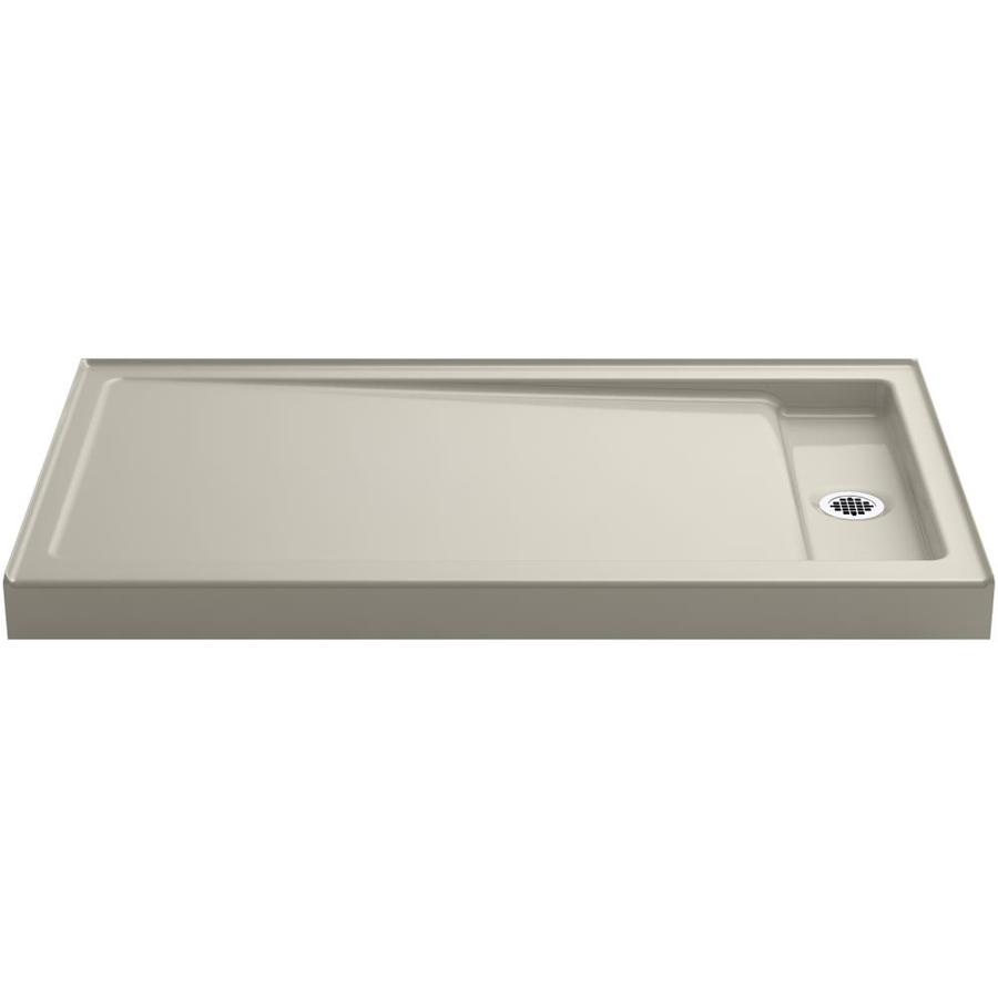 KOHLER Bellwether Sandbar Cast Iron Shower Base (Common: 34-in W x 60-in L; Actual: 34-in W x 60-in L)