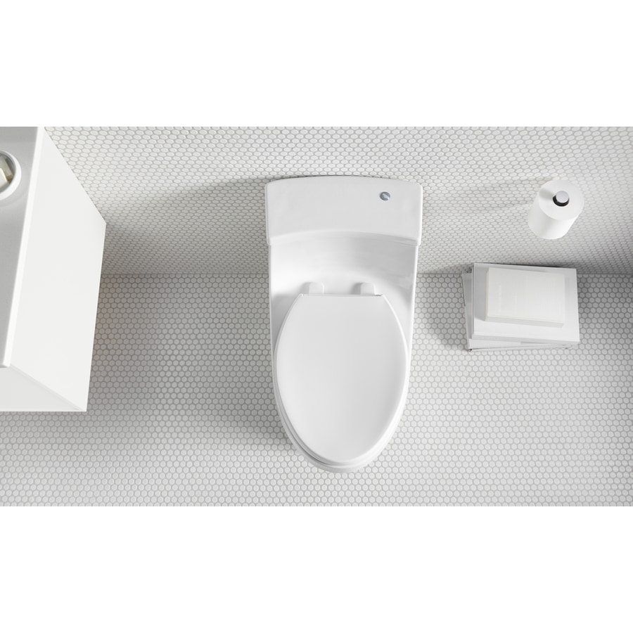 KOHLER San Souci White WaterSense Standard Height 1-Piece Toilet